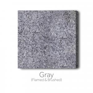 Gray Flamed and Brushed