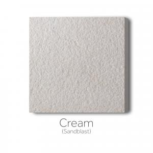 Cream Sandblast