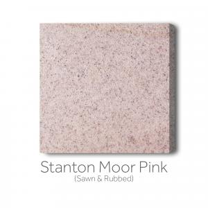 Stanton Moor Pink Sawn and Rubbed