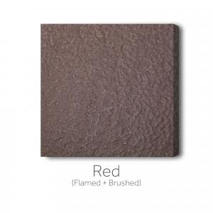 Red Flamed and Brushed