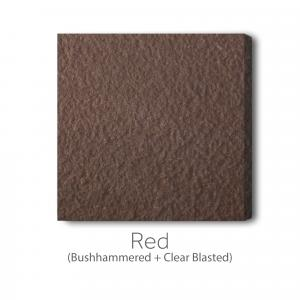 Red Bushhammered and Clear Blast