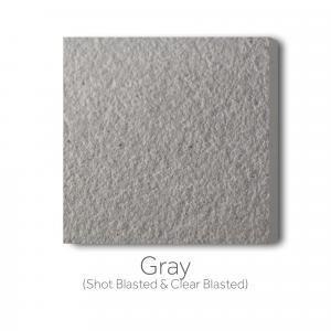 Gray Shot Blast and Clear Blast