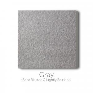 Gray Shotblasted and Lightly Brushed